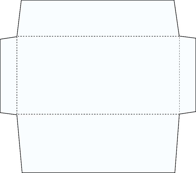 フタが変形の封筒